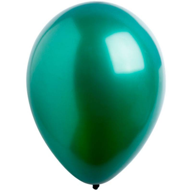 Латексный шар с гелием. Зеленый металлик