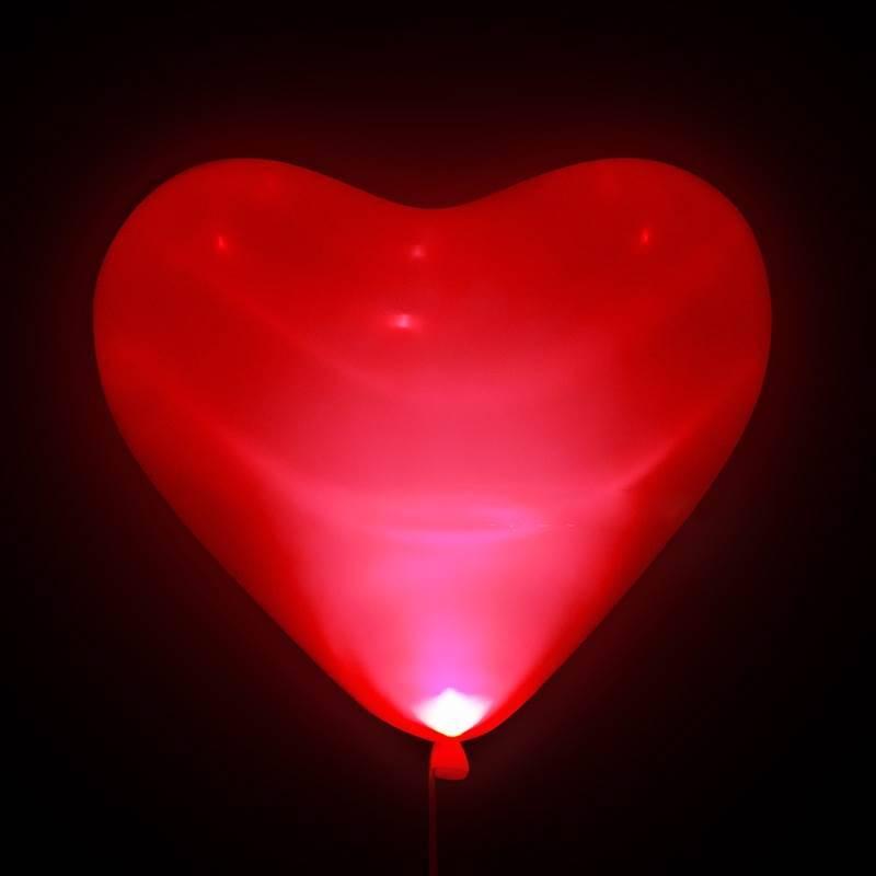 """Шар светящийся в темноте """"Сердце красное"""""""