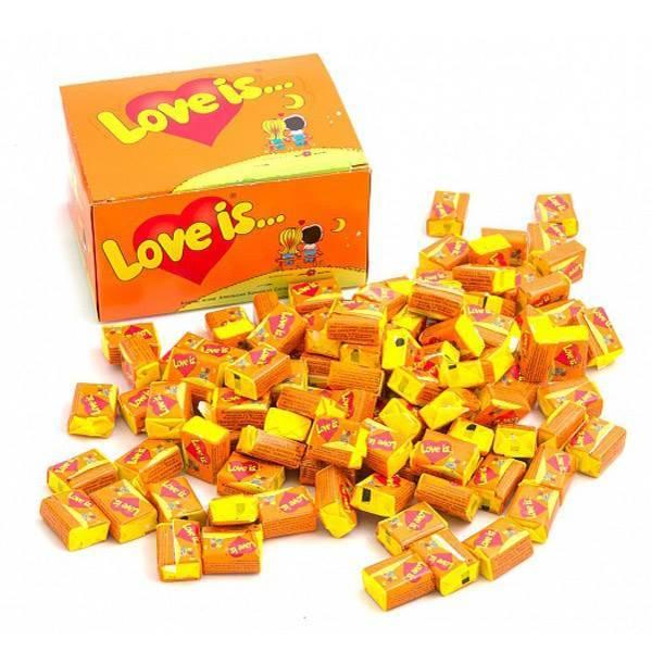 Жевательная резинка «Love is...» (апельсин-ананас)