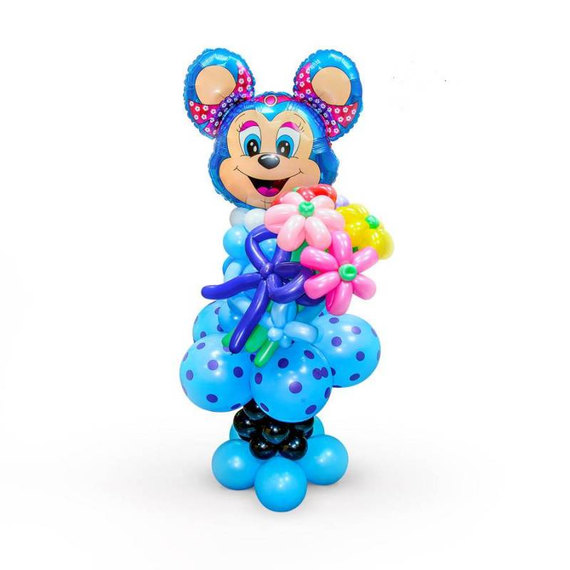 Фигура из шаров  Лолли Маус в голубом платье.