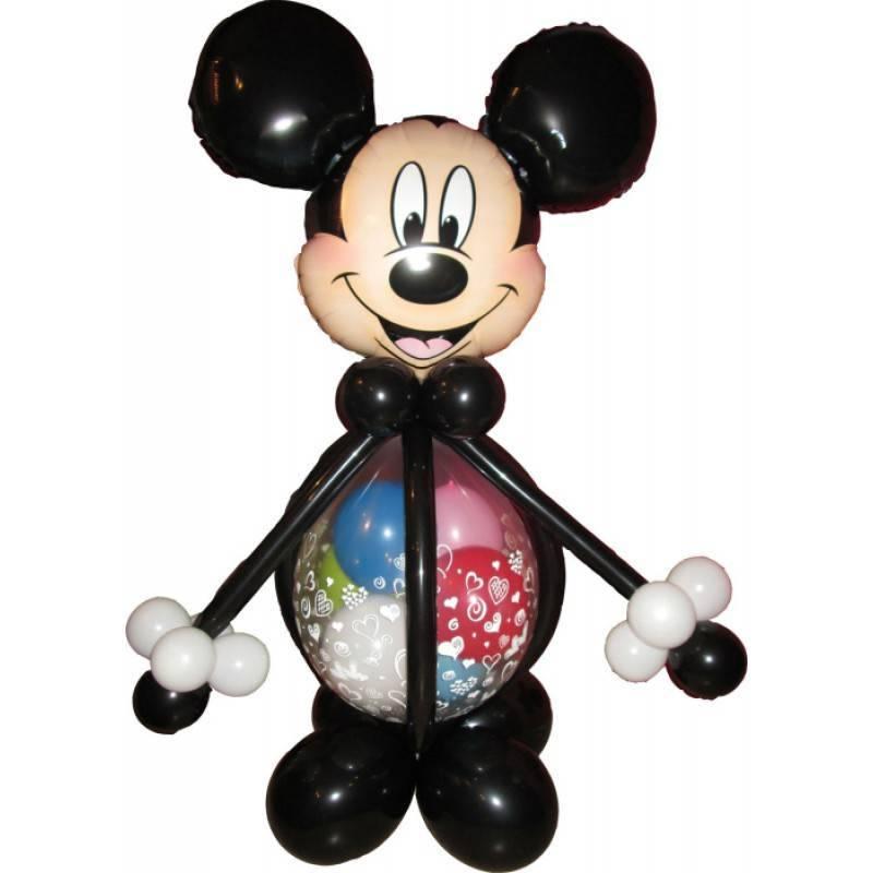 Фигура из шаров Микки Маус.