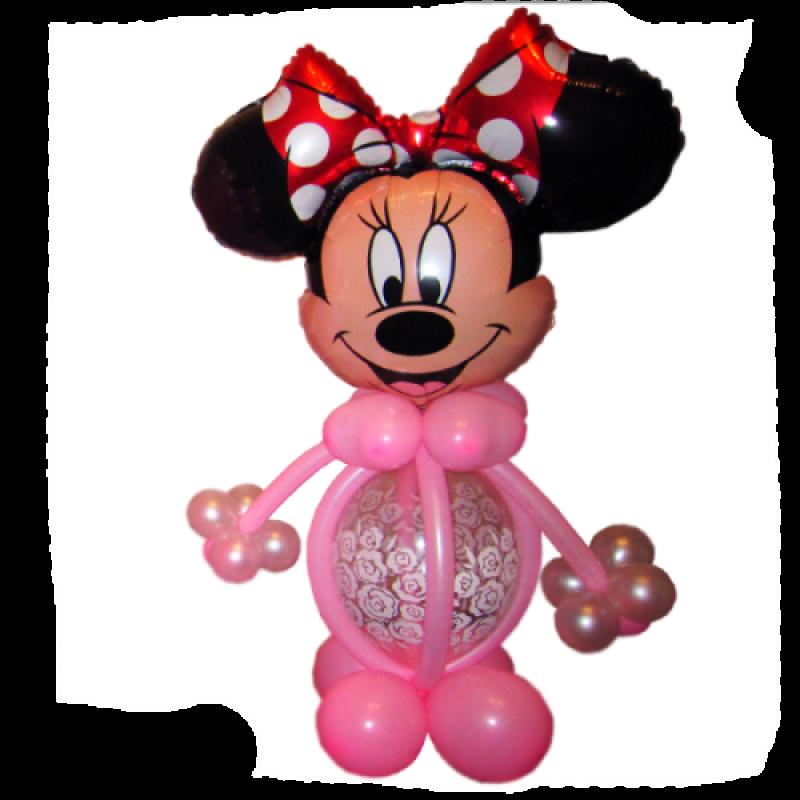 Фигура из шаров Минни Маус.