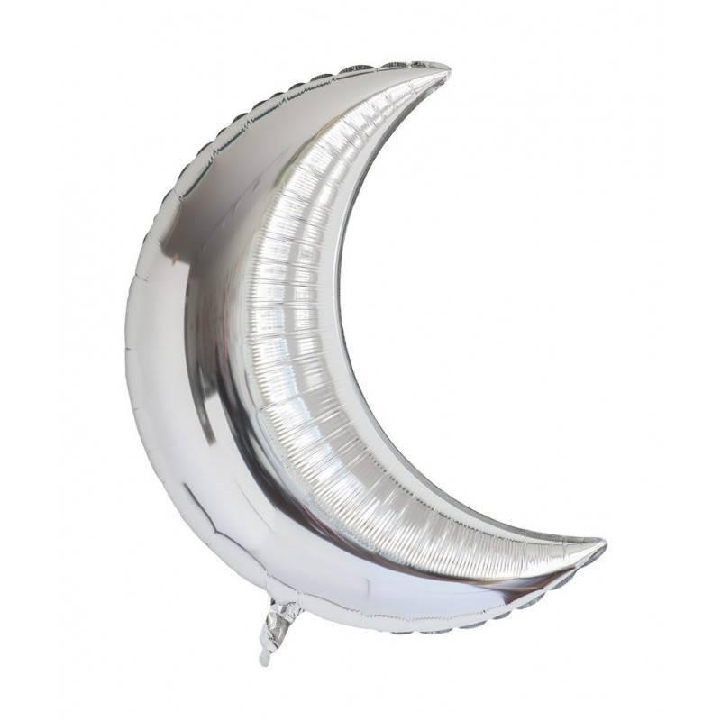 Шар из фольги «Полумесяц серебряный»