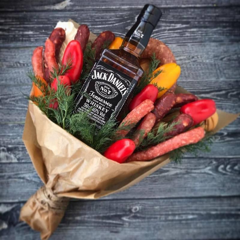 Съедобный букет с Jack Daniel's