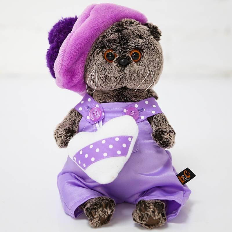 Мягкая игрушка Budi Basa Кот Басик в лиловом