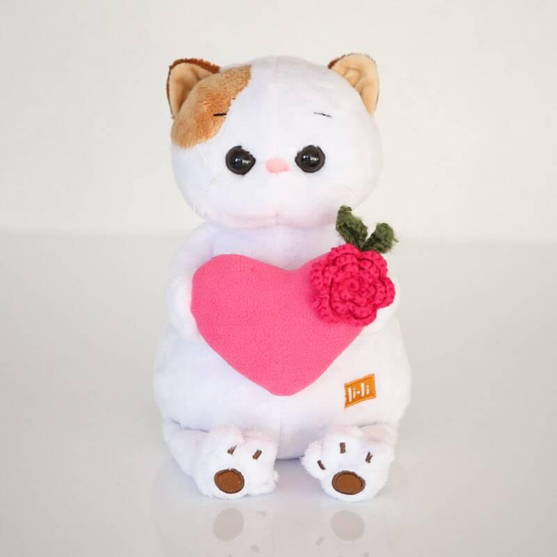 Мягкая игрушка BudiBasa «Кошечка Ли-Ли BABY с сердцем»