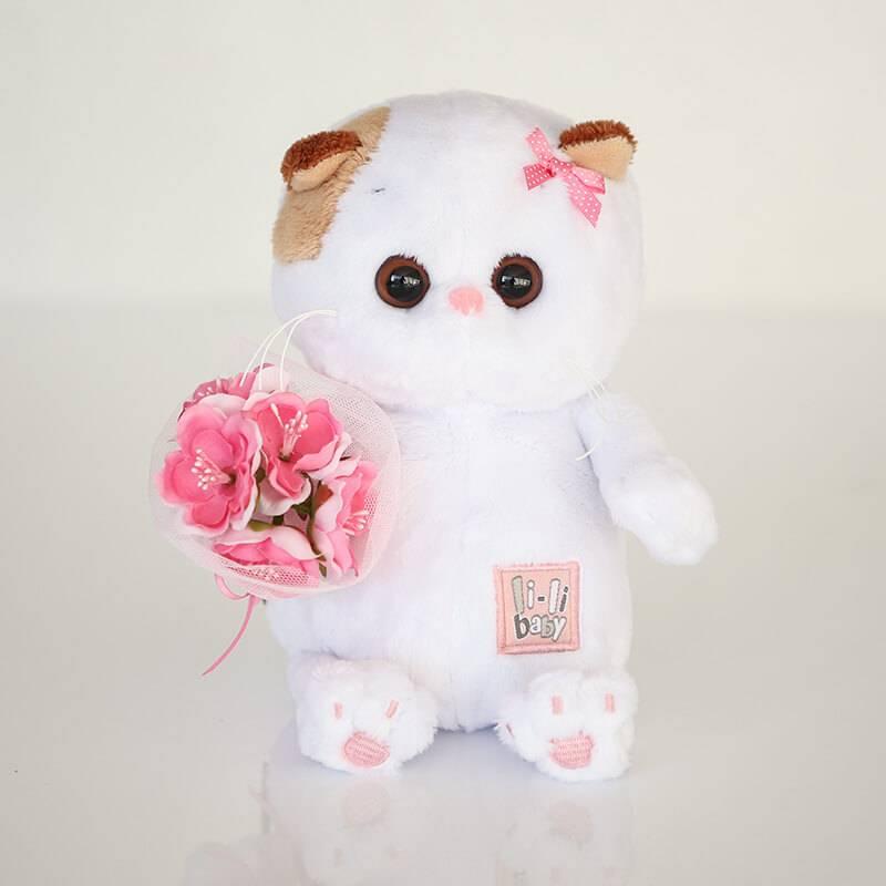 Мягкая игрушка BudiBasa «Кошечка Ли-Ли BABY с букетом»