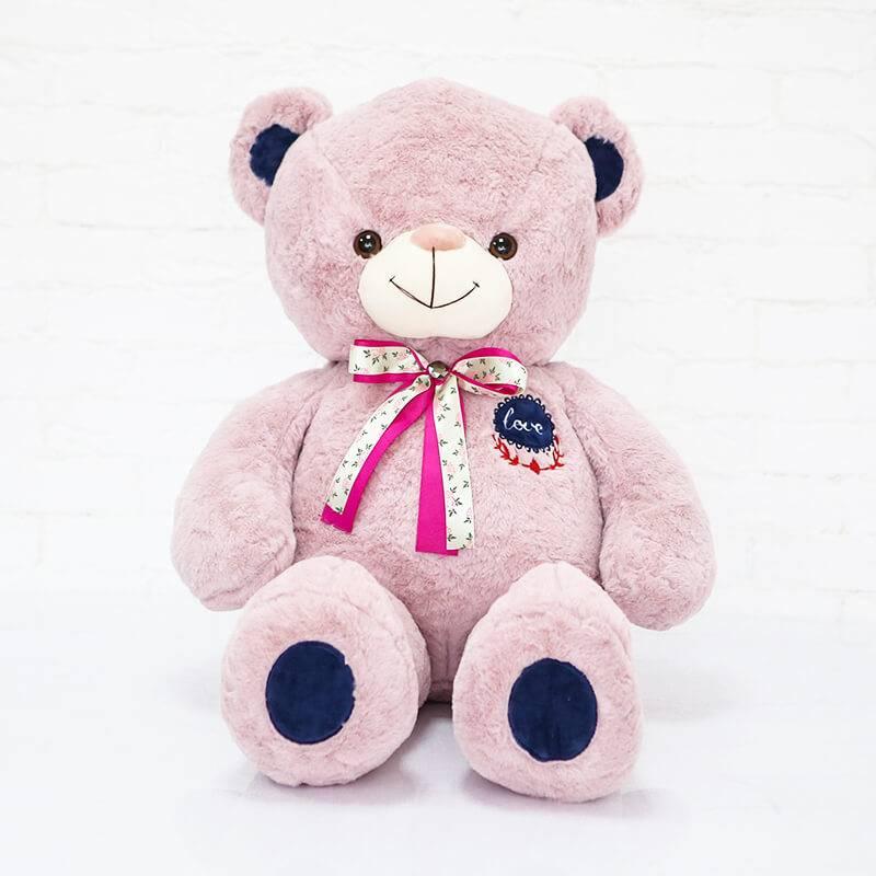 Мягкая игрушка розовый мишка