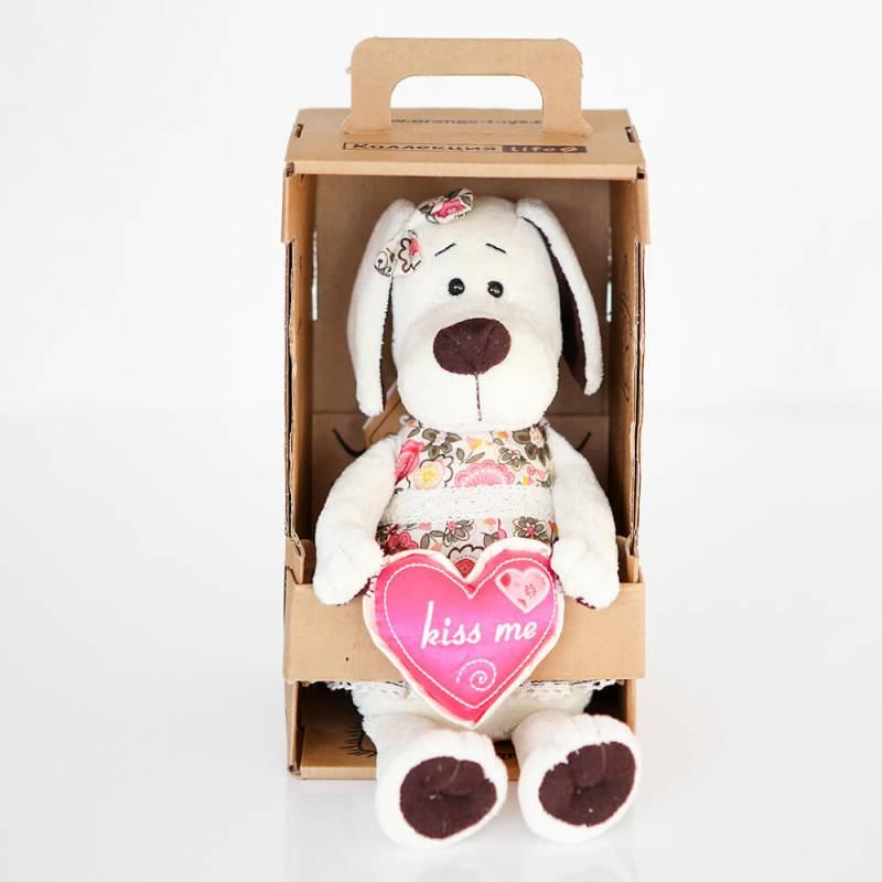 Мягкая игрушка собачка девочка