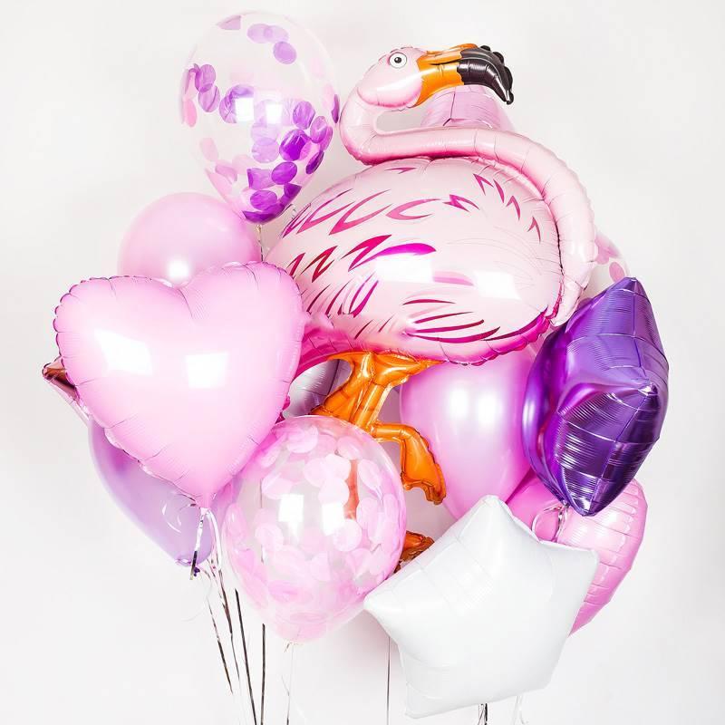 """Набор из шаров """"Розовый фламинго"""""""