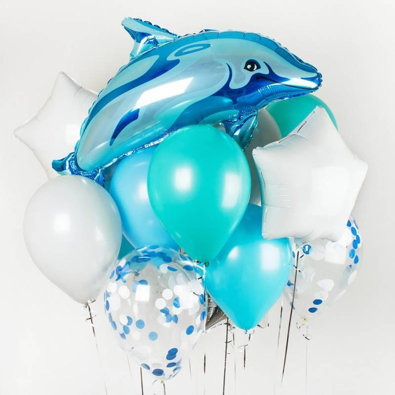 """Набор шаров """" Дельфин"""""""