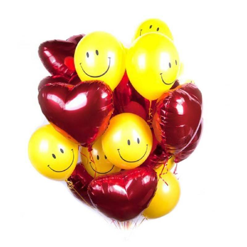 """Набор шаров """" Влюбленные улыбки"""""""