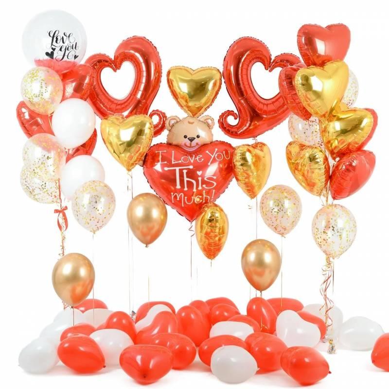Набор шаров для фото зоны к 14 февраля