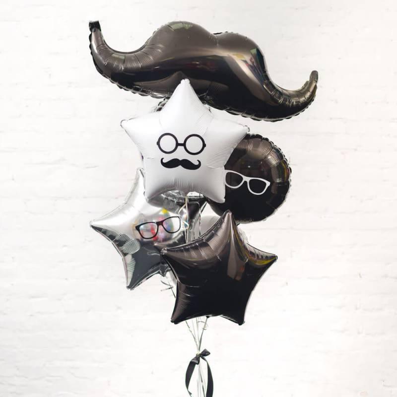 """Набор шаров для мужчин """"Усы"""""""