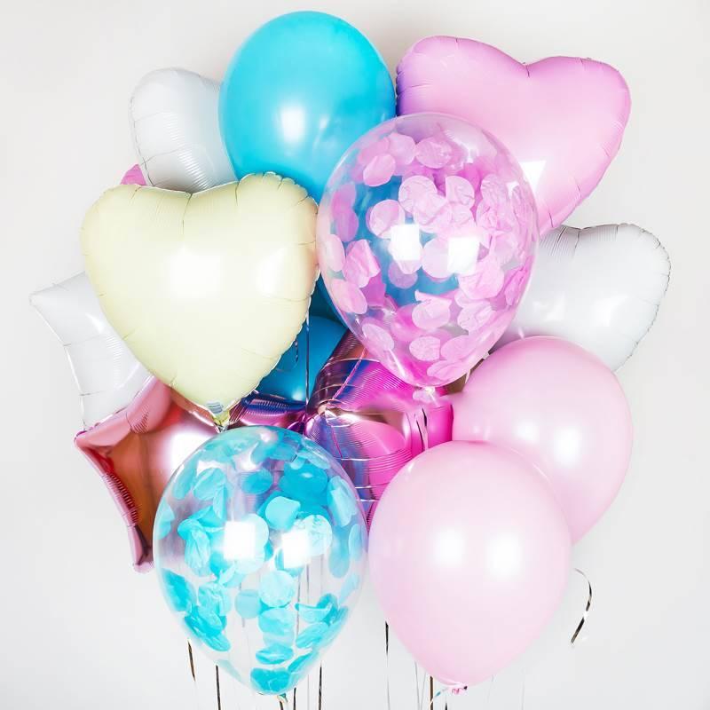 """Набор из шаров """"Ванильное сердце"""""""