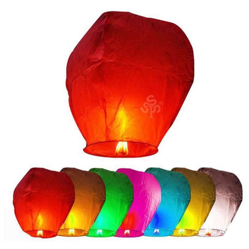 Небесный фонарик «Овал» ассорти