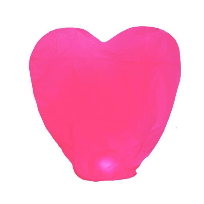 Небесный фонарик «Розовое сердце»