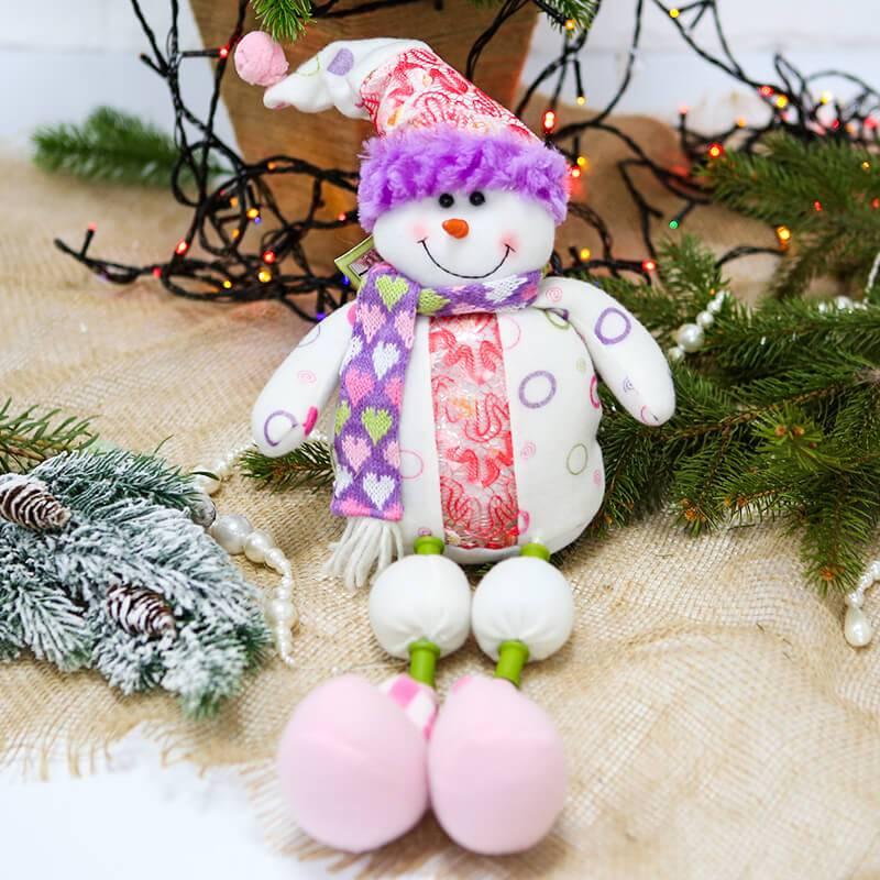 """Новогоднее украшение """"Снеговик с ножками"""""""