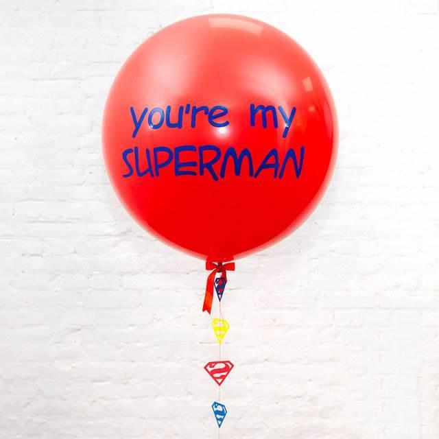 """Олимпийский шар с индивидуальной надписью """"Ты мой супер герой"""""""