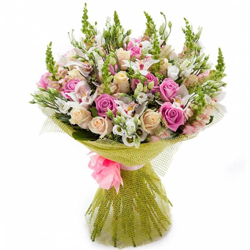 """Букет с орхидеями  и розами """"Это больше, чем любовь..."""""""