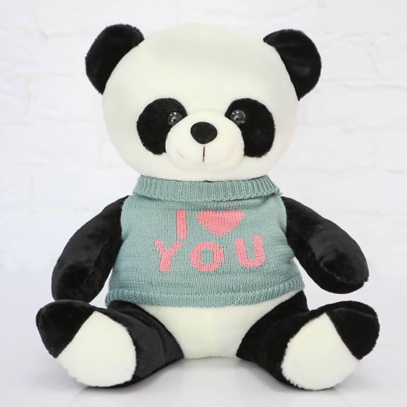 Мягкая игрушка Панда в свитере 50 см