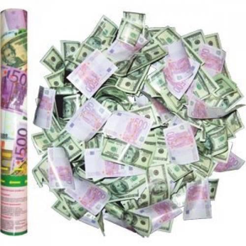Пневмохлопушка (40 см) «Деньги»