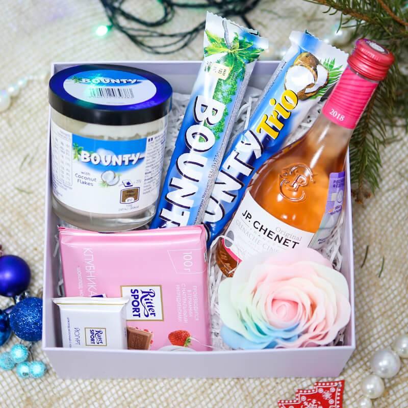 Подарочный набор Bounty с шампанским