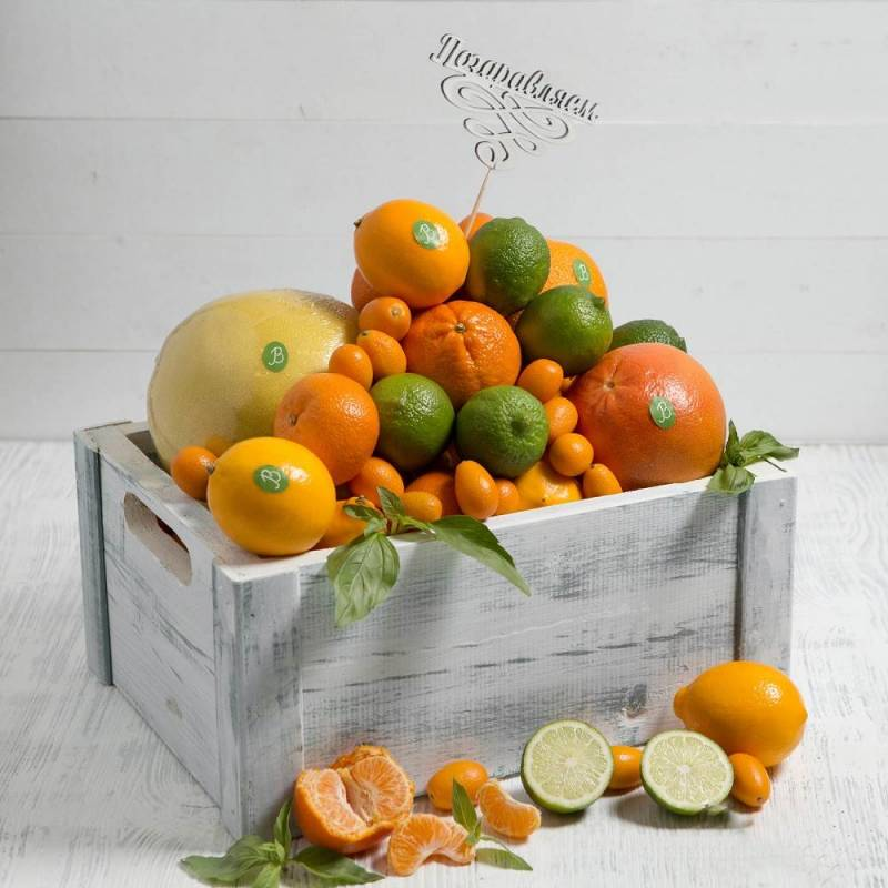 """Подарочный набор с фруктами  """"Оранжевое настроение"""","""