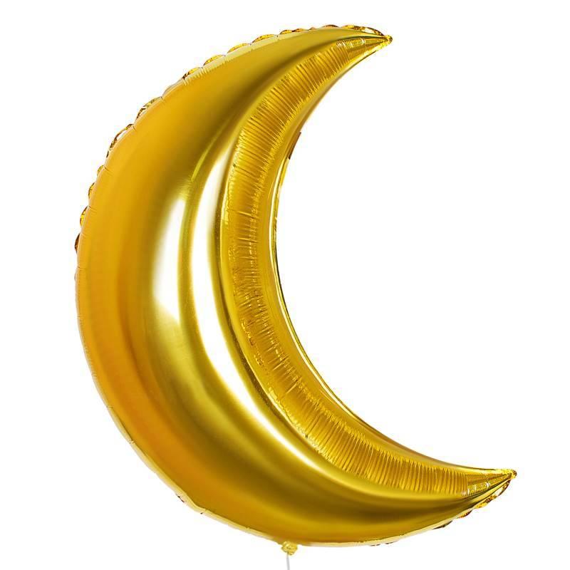 Шар из фольги «Полумесяц золотой»