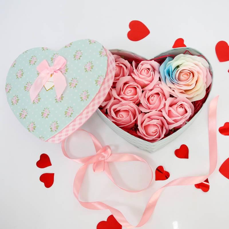 Сердечко с мыльными розами