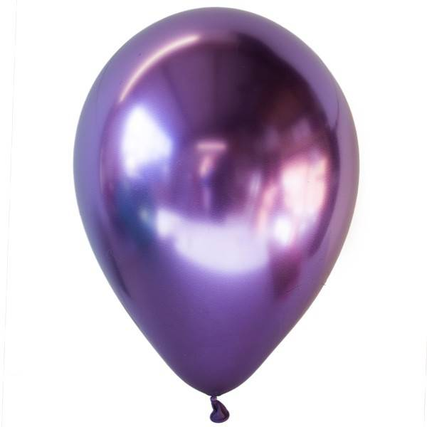Пурпурные хромированные шары с гелием