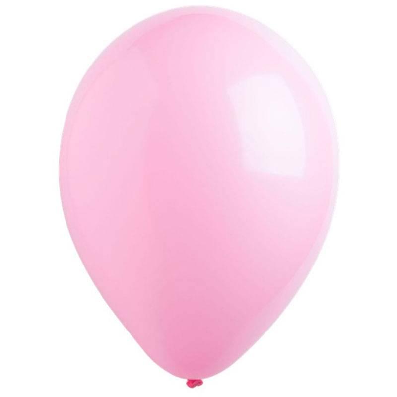 Розовый латексный шар с гелием.