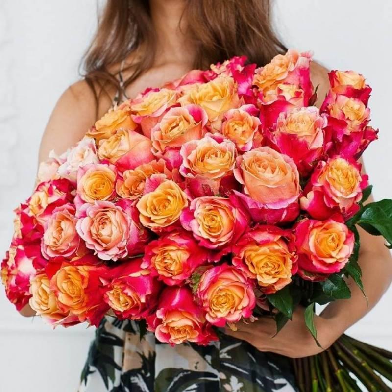 Розы оранжевые 3D (Эквадор)
