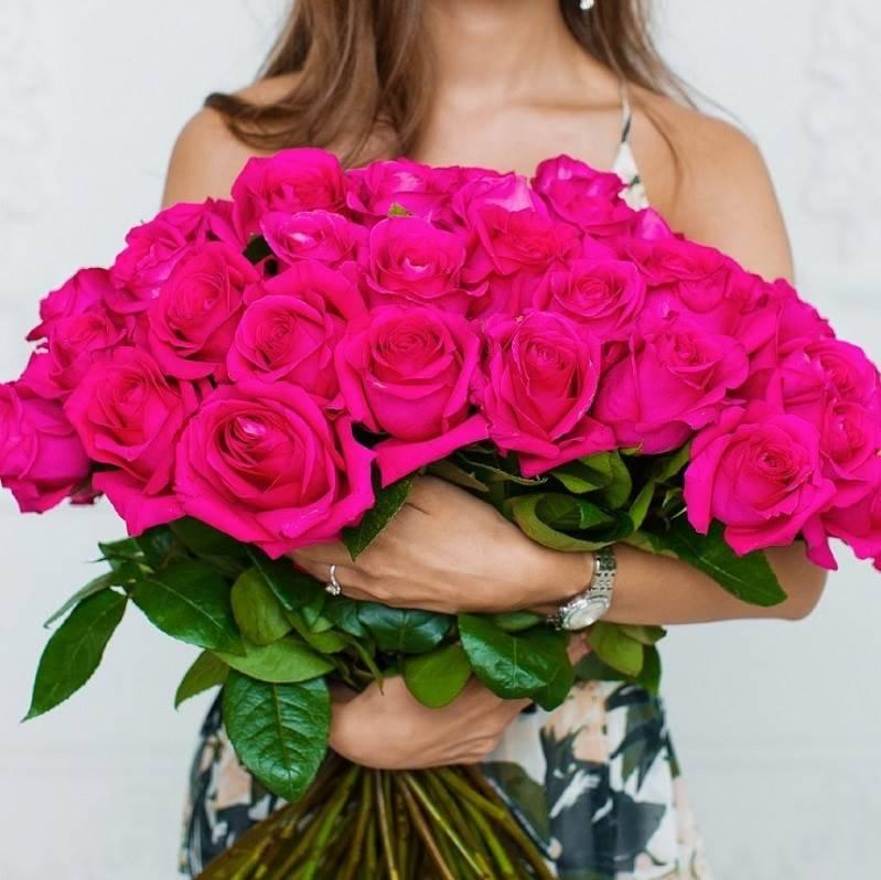 """Розы ярко-розовые """" Пинк Флойд"""""""