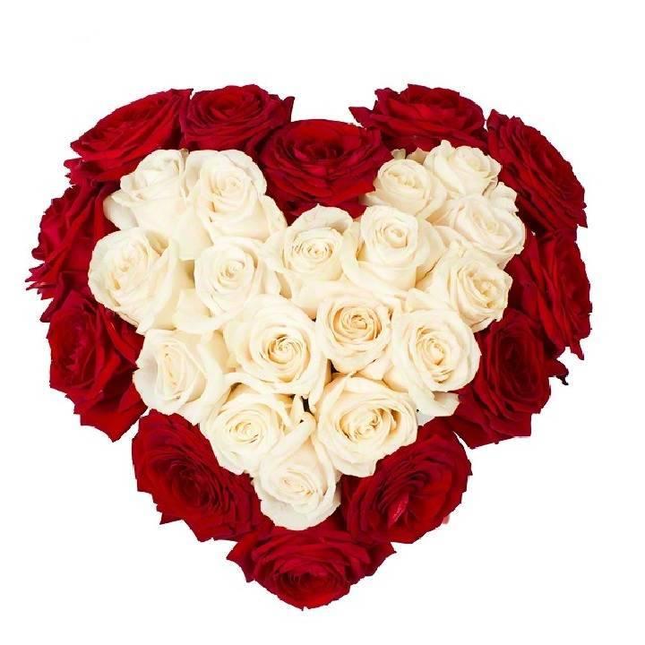 """Сердце из роз """"Моё сердце-тебе"""""""