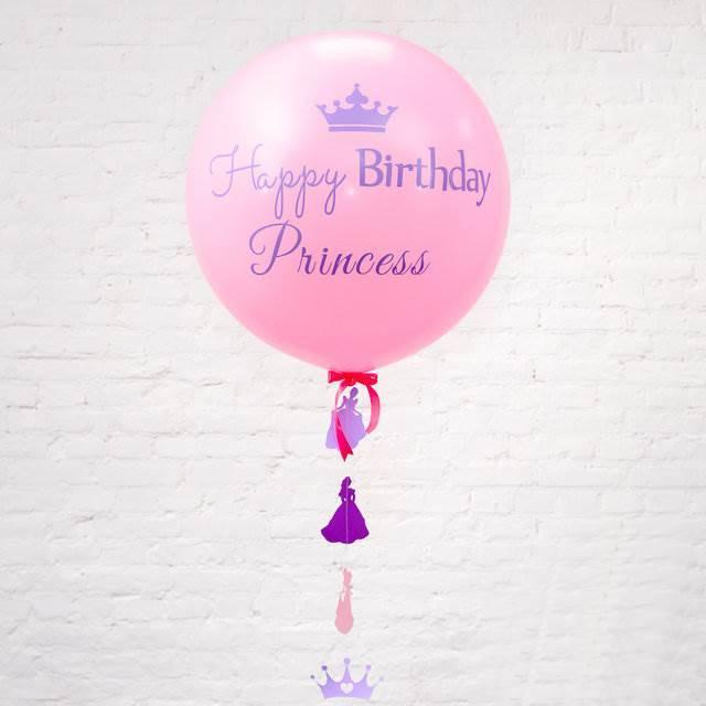 """Шар-гигант с надписью """"Happy birthday Princess"""" и гирляндой """"Корона принцессы"""""""