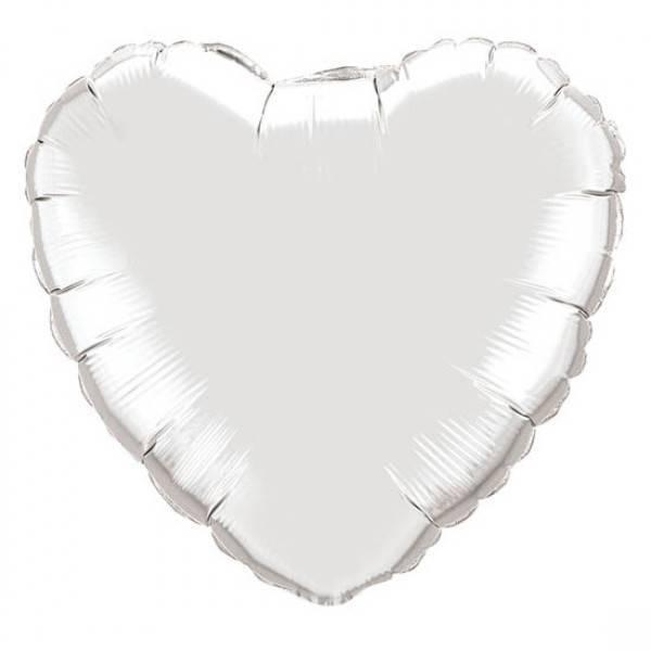 Шар из фольги «Белое сердце»