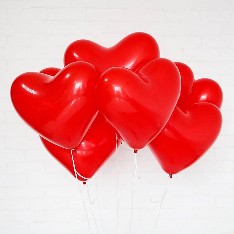 Шар в форме сердечка. Красный
