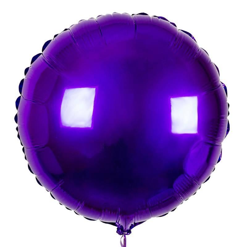 Шар из фольги «Фиолетовый  круг»