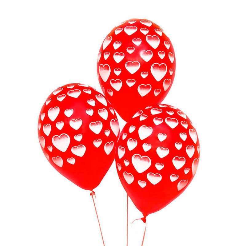 """Воздушные шары с рисунком """"Сердце"""""""