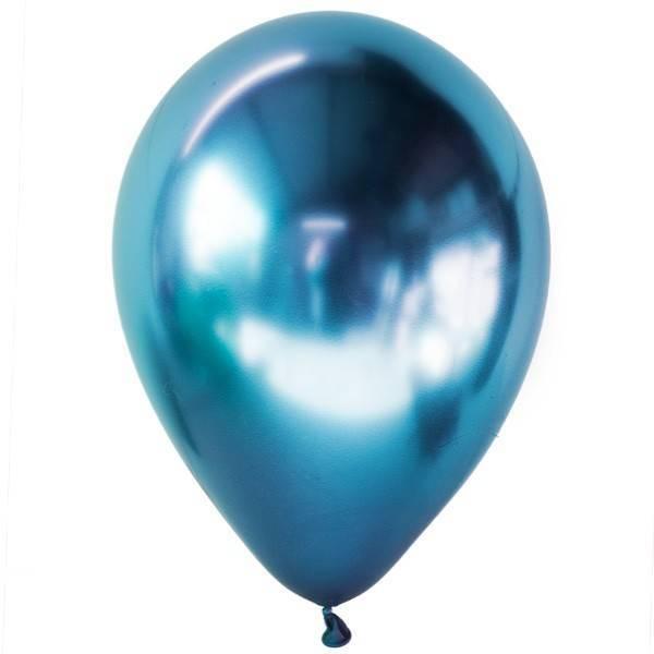Синие хромированные шары с гелием