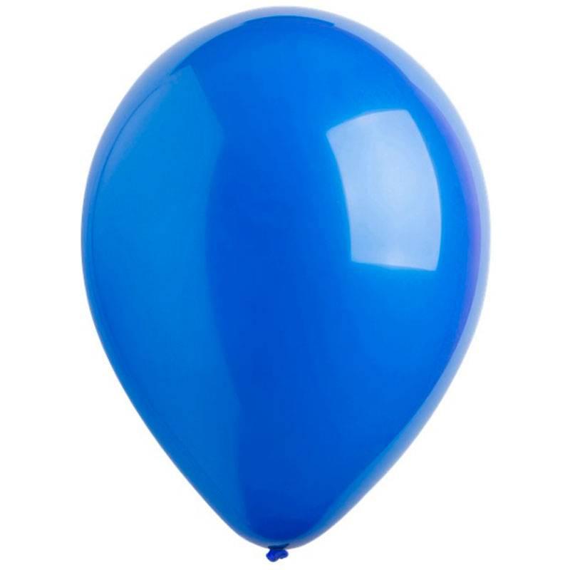 Синие латексные шары с гелием