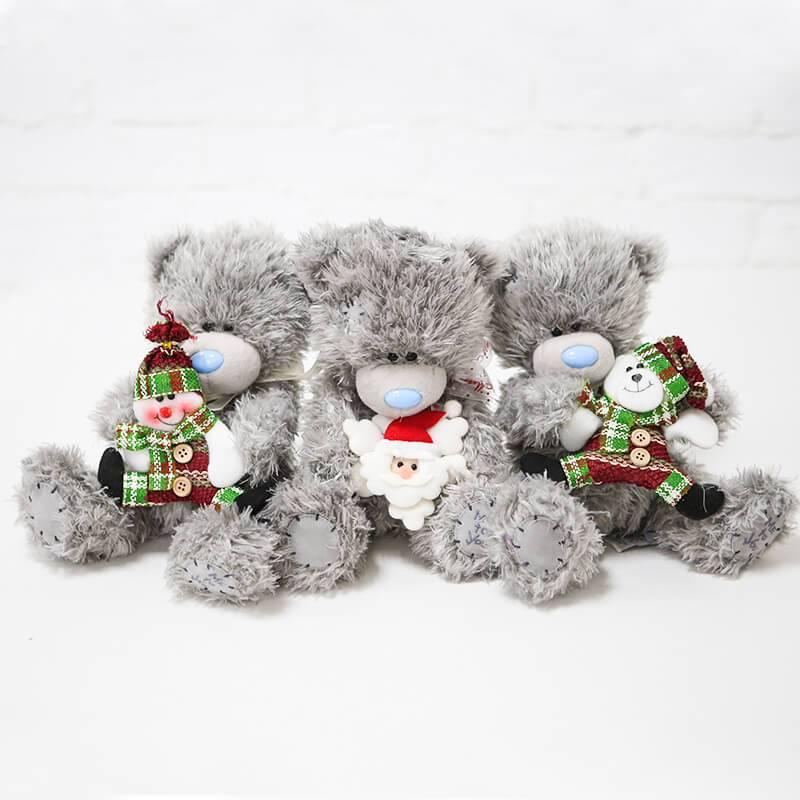 Мягкая игрушка мишка Тедди с новогодним декором