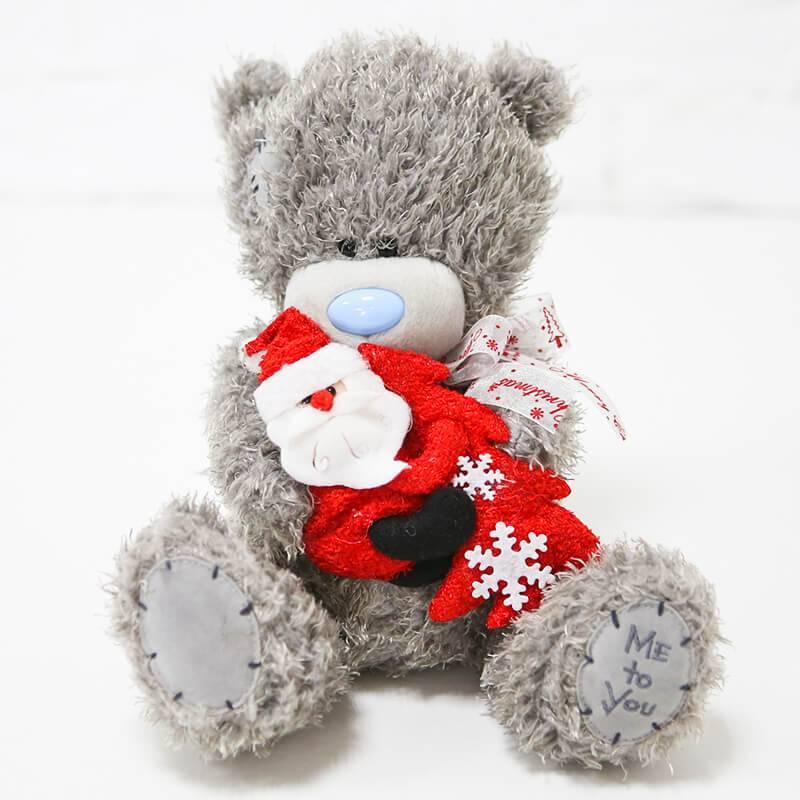 Мягкая игрушка мишка Тедди с новогодним декором 22 см