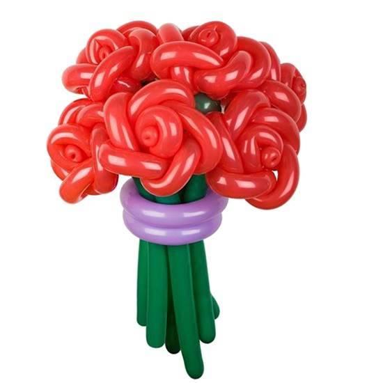 """Цветы из шаров """"Красные розы"""""""