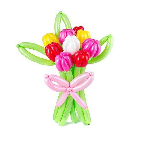 Цветы из шаров Тюльпаны