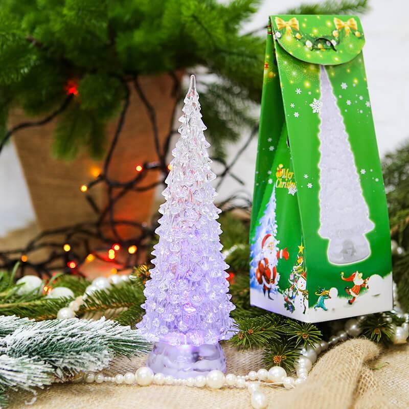 """Украшение новогоднее """"Елочка прозрачная с подсветкой"""""""