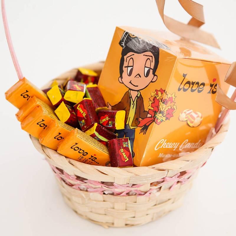 Вкусный набор с жевательными резинками «Влюбленный романтик»