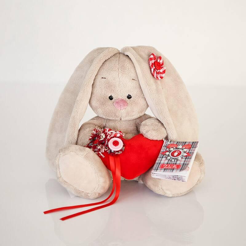 Мягкая игрушка Зайка Ми с сердечком