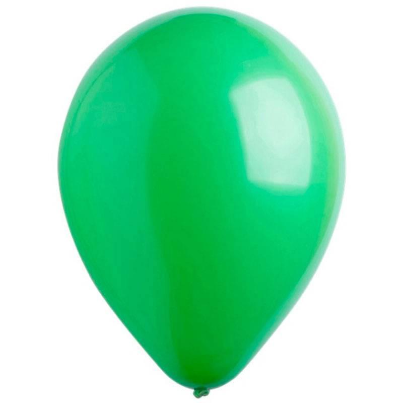 Зеленые латексные шары с гелием